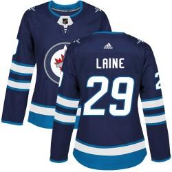 Patrik Laine Winnipeg Jets Women's Adidas Authentic Navy Blue Home Jersey