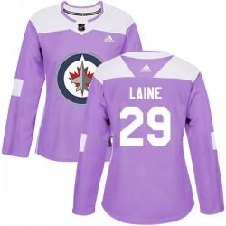 Patrik Laine Winnipeg Jets Women's Adidas Authentic Purple Fights Cancer Practice Jersey