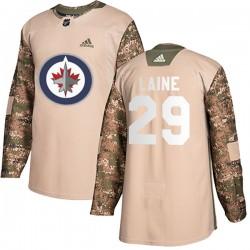 Patrik Laine Winnipeg Jets Youth Adidas Authentic Camo Veterans Day Practice Jersey