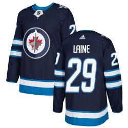 Patrik Laine Winnipeg Jets Youth Adidas Authentic Navy Blue Home Jersey