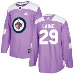 Patrik Laine Winnipeg Jets Youth Adidas Authentic Purple Fights Cancer Practice Jersey