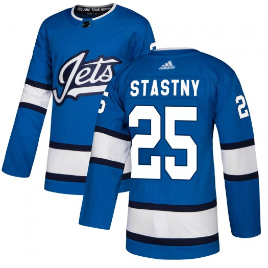 Paul Stastny Winnipeg Jets Youth Adidas Authentic Blue Alternate Jersey