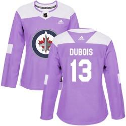 Pierre-Luc Dubois Winnipeg Jets Women's Adidas Authentic Purple Fights Cancer Practice Jersey