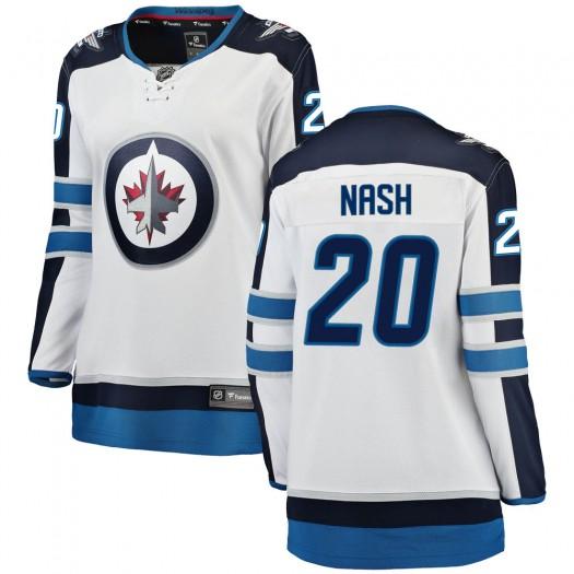 Riley Nash Winnipeg Jets Women's Fanatics Branded White Breakaway Away Jersey