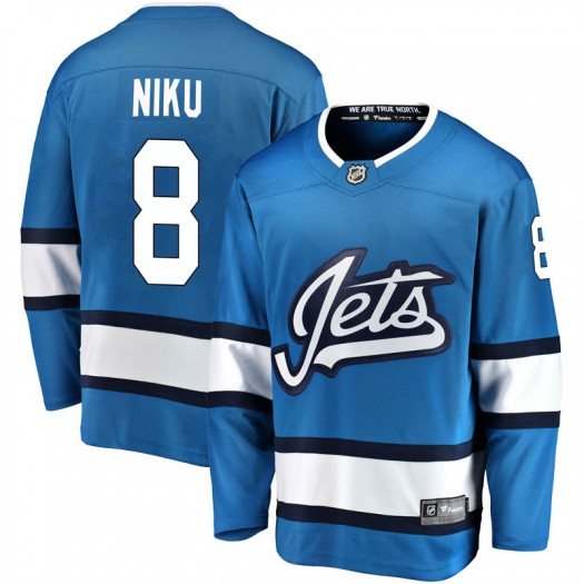 Sami Niku Winnipeg Jets Men's Fanatics Branded Blue Breakaway Alternate Jersey