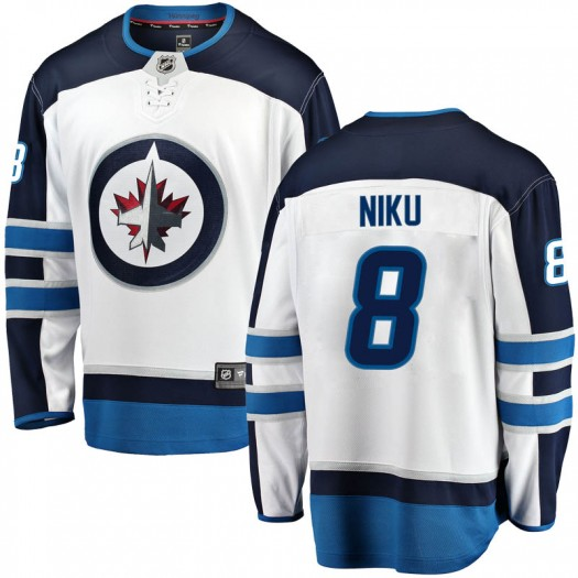 Sami Niku Winnipeg Jets Men's Fanatics Branded White Breakaway Away Jersey