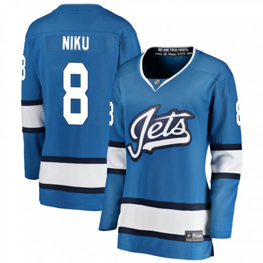 Sami Niku Winnipeg Jets Women's Fanatics Branded Blue Breakaway Alternate Jersey
