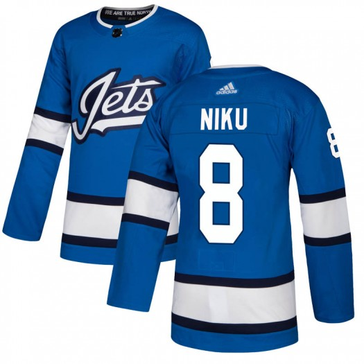 Sami Niku Winnipeg Jets Youth Adidas Authentic Blue Alternate Jersey