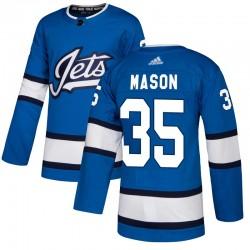 Steve Mason Winnipeg Jets Men's Adidas Authentic Blue Alternate Jersey