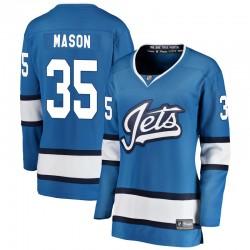 Steve Mason Winnipeg Jets Women's Fanatics Branded Blue Breakaway Alternate Jersey