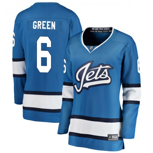 Ted Green Winnipeg Jets Women's Fanatics Branded Blue Breakaway Alternate Jersey