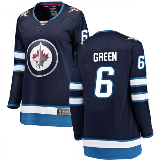 Ted Green Winnipeg Jets Women's Fanatics Branded Blue Breakaway Home Jersey