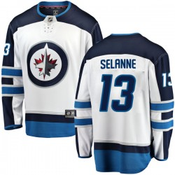 Teemu Selanne Winnipeg Jets Men's Fanatics Branded White Breakaway Away Jersey