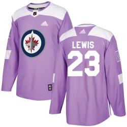 Trevor Lewis Winnipeg Jets Men's Adidas Authentic Purple Fights Cancer Practice Jersey