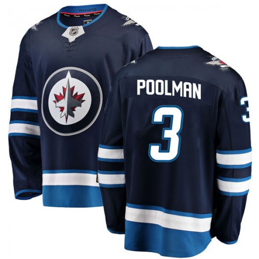 Tucker Poolman Winnipeg Jets Men's Fanatics Branded Blue Breakaway Home Jersey