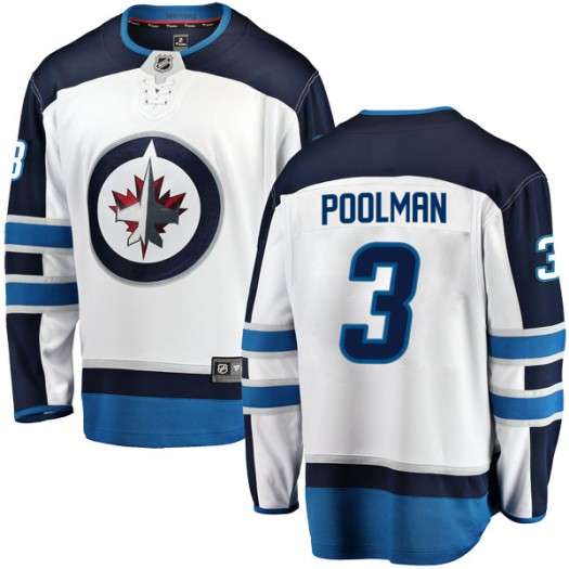 Tucker Poolman Winnipeg Jets Men's Fanatics Branded White Breakaway Away Jersey