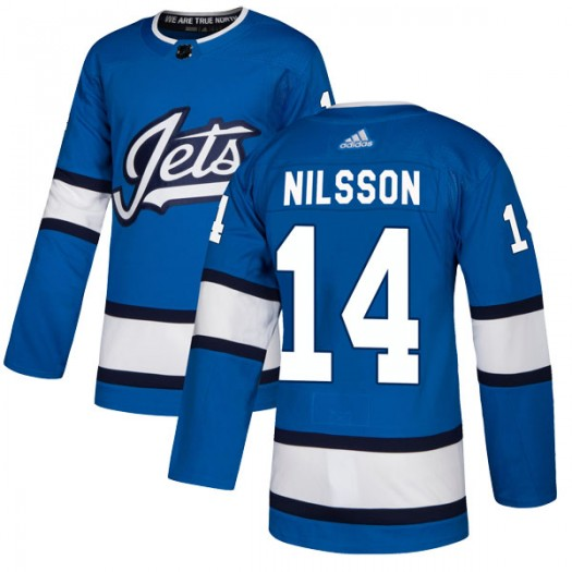 Ulf Nilsson Winnipeg Jets Men's Adidas Authentic Blue Alternate Jersey