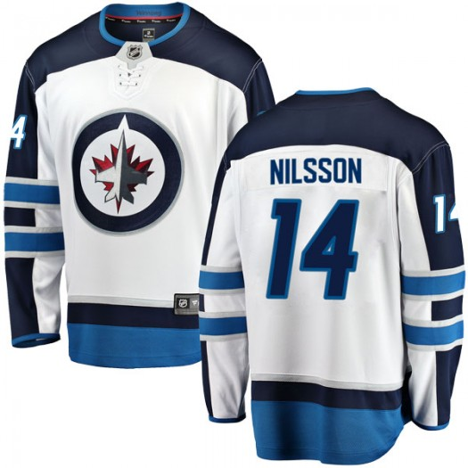 Ulf Nilsson Winnipeg Jets Men's Fanatics Branded White Breakaway Away Jersey