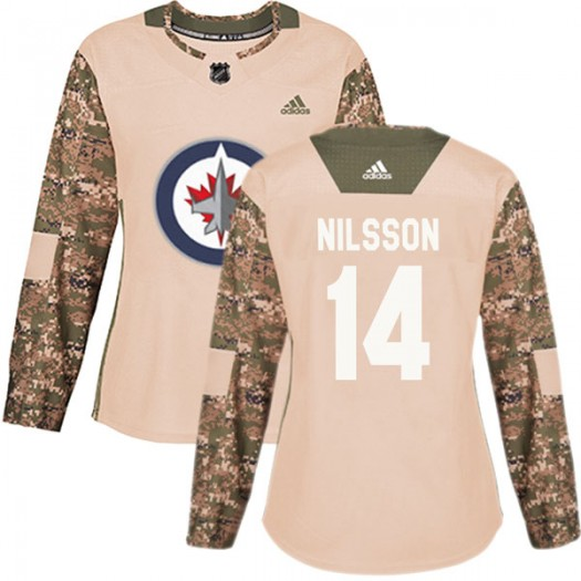Ulf Nilsson Winnipeg Jets Women's Adidas Authentic Camo Veterans Day Practice Jersey