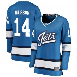 Ulf Nilsson Winnipeg Jets Women's Fanatics Branded Blue Breakaway Alternate Jersey