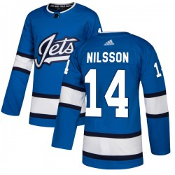 Ulf Nilsson Winnipeg Jets Youth Adidas Authentic Blue Alternate Jersey