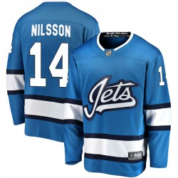Ulf Nilsson Winnipeg Jets Youth Fanatics Branded Blue Breakaway Alternate Jersey