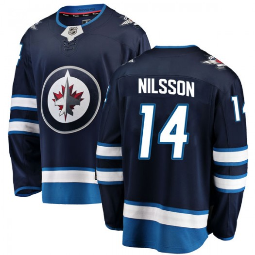 Ulf Nilsson Winnipeg Jets Youth Fanatics Branded Blue Breakaway Home Jersey