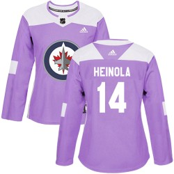 Ville Heinola Winnipeg Jets Women's Adidas Authentic Purple Fights Cancer Practice Jersey