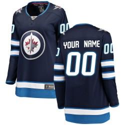 Women's Fanatics Branded Winnipeg Jets Customized Breakaway Blue Home Jersey