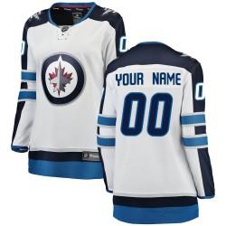 Women's Fanatics Branded Winnipeg Jets Customized Breakaway White Away Jersey