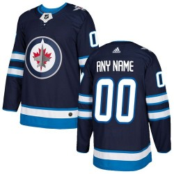 Youth Adidas Winnipeg Jets Customized Authentic Navy Blue Home Jersey