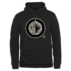 Winnipeg Jets Men's Black Rink Warrior Pullover Hoodie