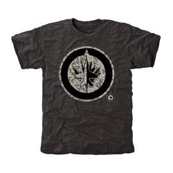 Winnipeg Jets Men's Black Rink Warrior Tri-Blend T-Shirt