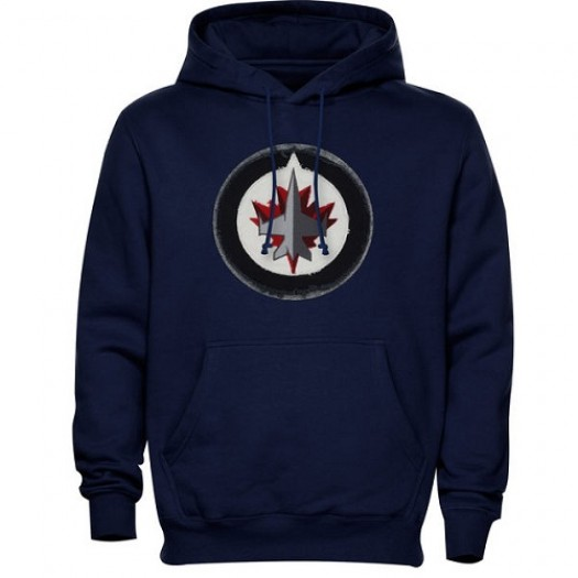Winnipeg Jets Men's Navy Blue Levelwear Freshman Hoodie