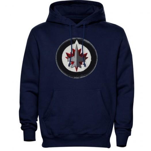 Winnipeg Jets Men's Navy Blue Levelwear Freshman Hoodie