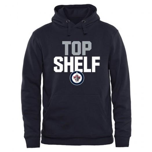 Winnipeg Jets Men's Navy Top Shelf Pullover Hoodie