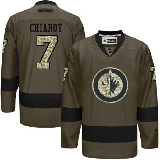 Ben Chiarot Winnipeg Jets Men's Reebok Authentic Green Salute to Service Jersey