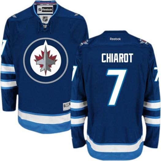 Ben Chiarot Winnipeg Jets Men's Reebok Authentic Navy Blue Home Jersey