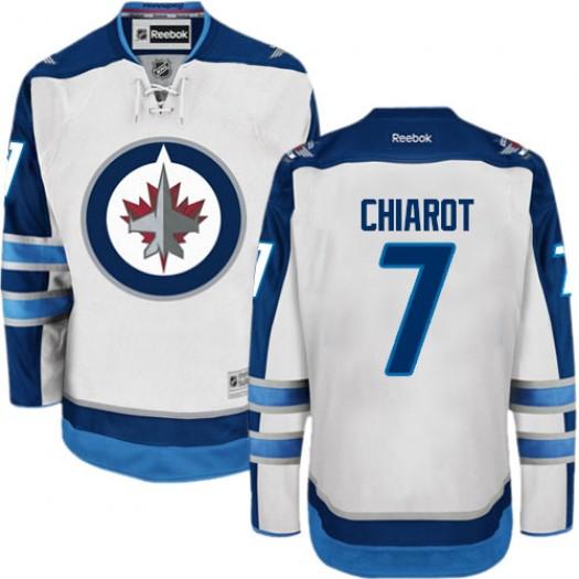 Ben Chiarot Winnipeg Jets Men's Reebok Authentic White Away Jersey