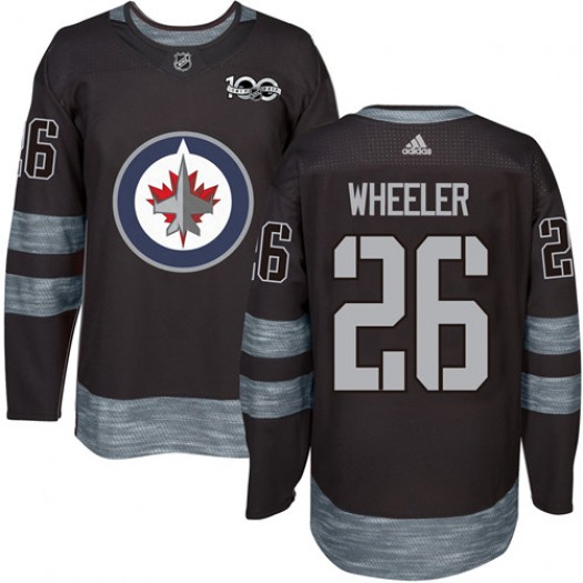 Blake Wheeler Winnipeg Jets Men's Adidas Authentic Black 1917-2017 100th Anniversary Jersey