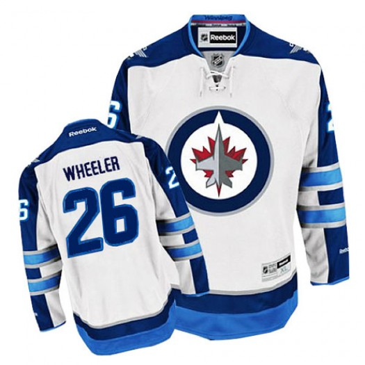 Blake Wheeler Winnipeg Jets Men's Reebok Authentic White Away Jersey