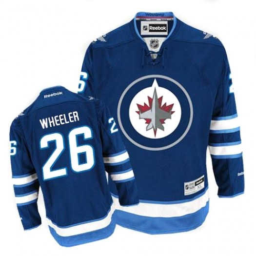 Blake Wheeler Winnipeg Jets Men's Reebok Premier Navy Blue Home Jersey