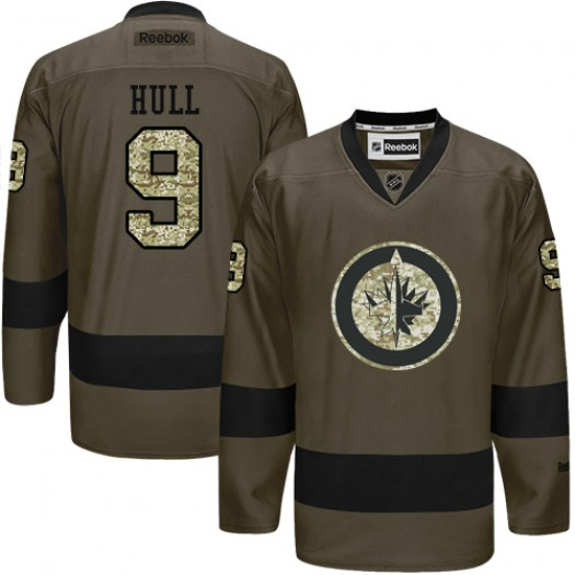Bobby Hull Winnipeg Jets Men's Reebok Authentic Green Salute to Service Jersey