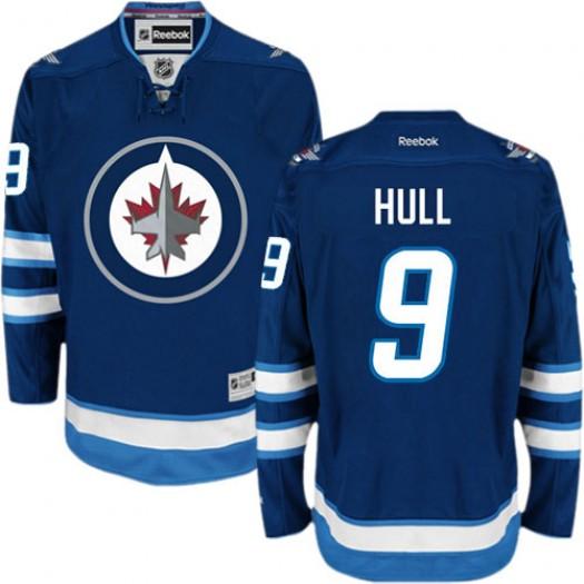 Bobby Hull Winnipeg Jets Men's Reebok Authentic Navy Blue Home Jersey