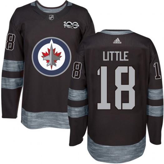 Bryan Little Winnipeg Jets Men's Adidas Premier Black 1917-2017 100th Anniversary Jersey