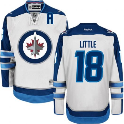 Bryan Little Winnipeg Jets Men's Reebok Authentic White Away Jersey