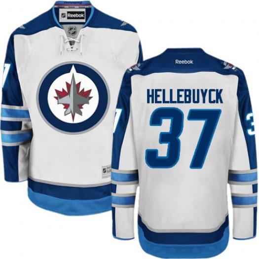 Connor Hellebuyck Winnipeg Jets Men's Reebok Authentic White Away Jersey