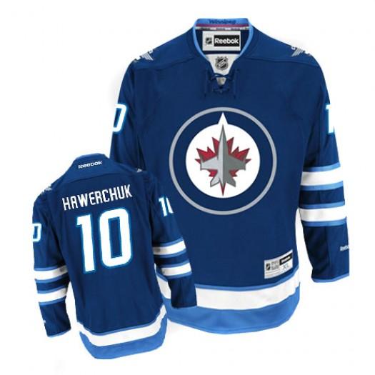 Dale Hawerchuk Winnipeg Jets Men's Reebok Authentic Navy Blue Home Jersey
