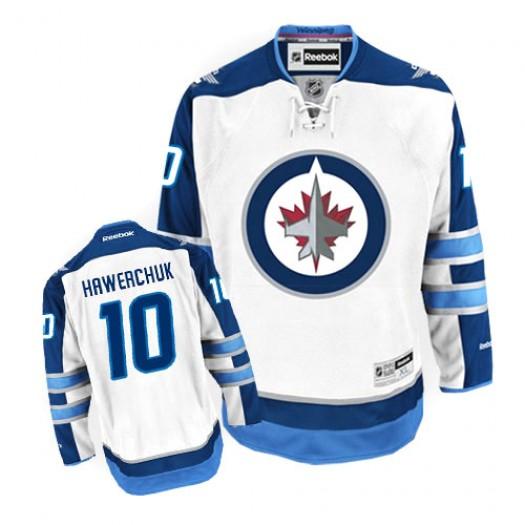 Dale Hawerchuk Winnipeg Jets Men's Reebok Premier White Away Jersey