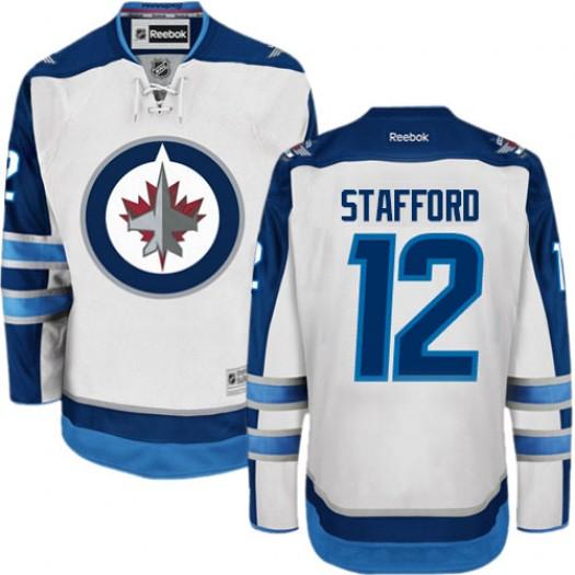 Drew Stafford Winnipeg Jets Men's Reebok Authentic White Away Jersey